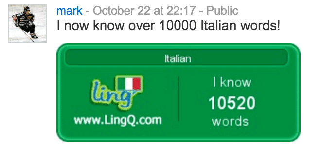 10000 Italian words known