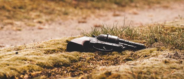 Gun on the ground