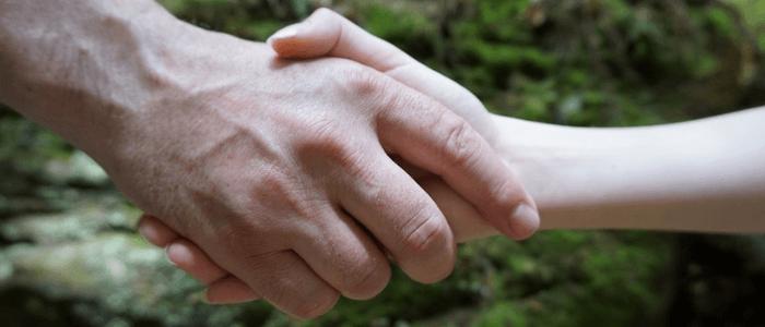 Handshake and greetings in Italian