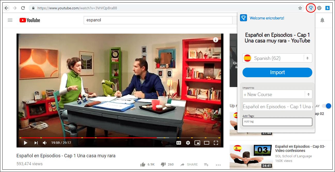 captura video aprender espanol