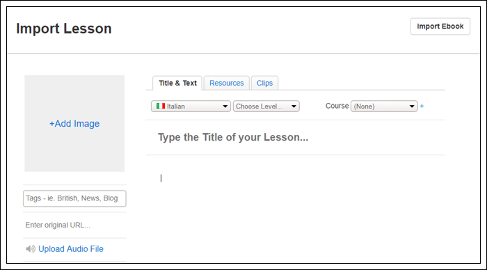 Learn Italian on LingQ