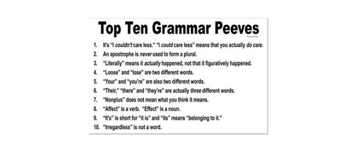 Grammar peeves