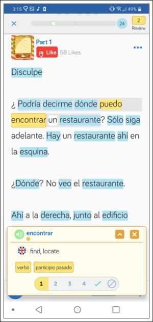 Learn Spanish online using LingQ