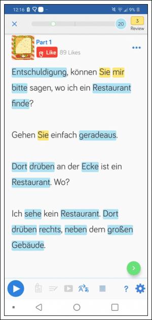 Learn German using LingQ