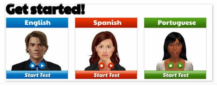 bridge online language proficiency tests