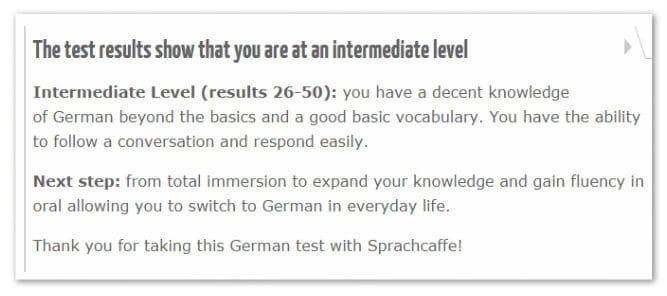 Sprache Caffe Language Proficiency Tests