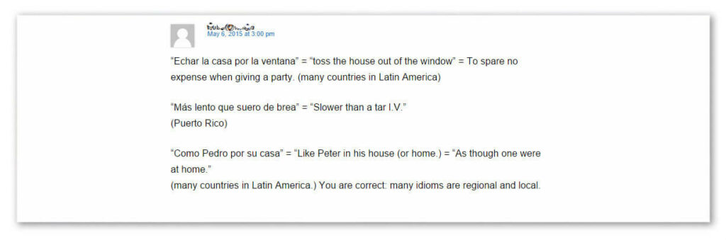 Learning a new language Idioms_in_Puerto_Rico