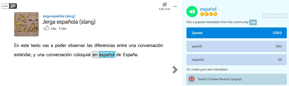 Learn Spanish on LingQ