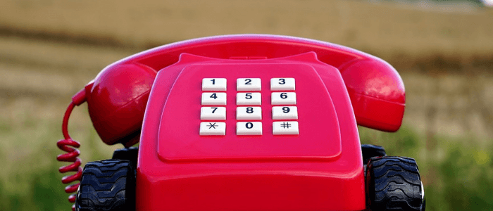 a red telephone