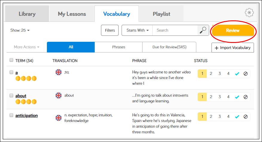 Learn English on LingQ