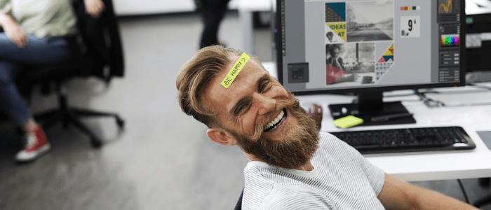 Laughing at work