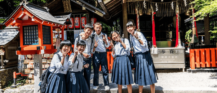 Japanese school students
