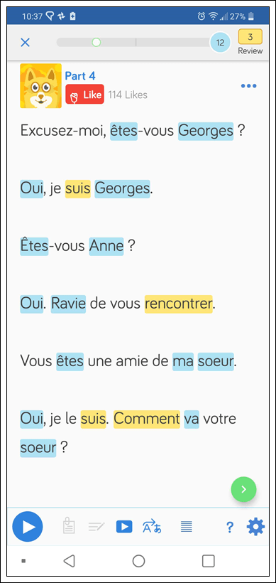 Learn French on LingQ
