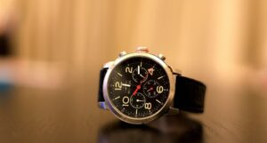 Watch on table