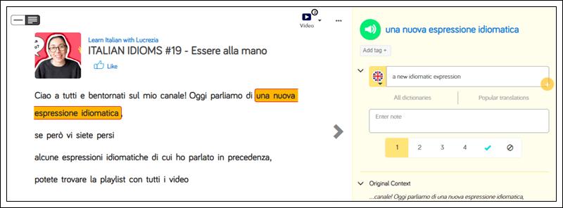 Learn Italian on LingQ