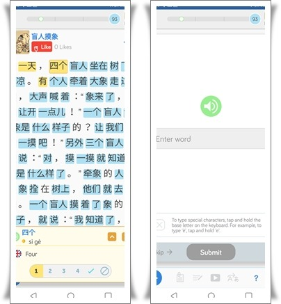 LingQ's language learning mobile app