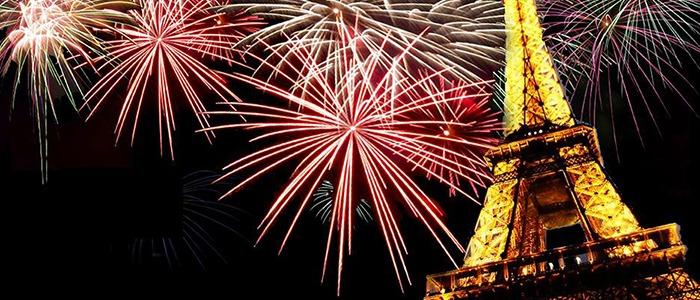 New Year celebration in Paris