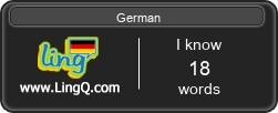 I Am Learning German online with LingQ.