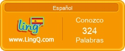I Am Learning Spanish online with LingQ.