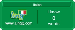 I Am Learning Italian online with LingQ.