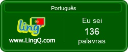 I Am Learning Portuguese online with LingQ.